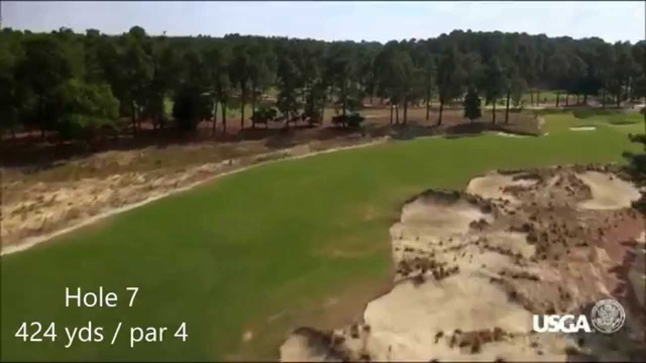 US Open Pinehurst No 2 Course Flyover Guide 2014 YouTube - Us Open Course Map