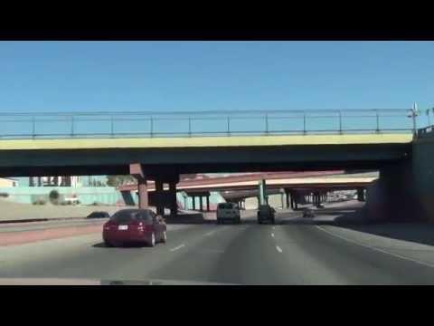 Full Drive on I-10 East through El Paso, Texas (Transmountain to Loop 375)