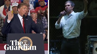 Donald Trump v Beto O'Rourke: rival rallies on US border security