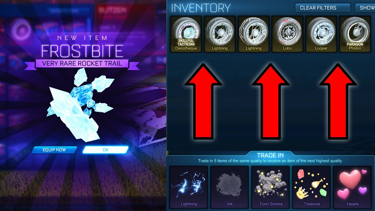 how to make remove trade timer rocket league