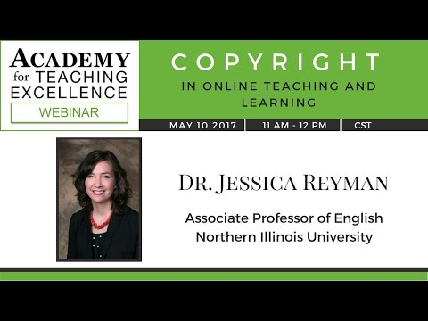 Webinar: Copyright in Online Teaching and Learning