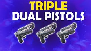TRIPLE DUAL PISTOLS: BETTER THAN SHOTGUNS?  | DAEQUAN TOXIC? - (Fortnite Battle Royale)