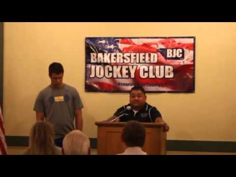 Bakersfield Christian High School Wrestling   Bakersfield Jockey Club Awards March 14 2016