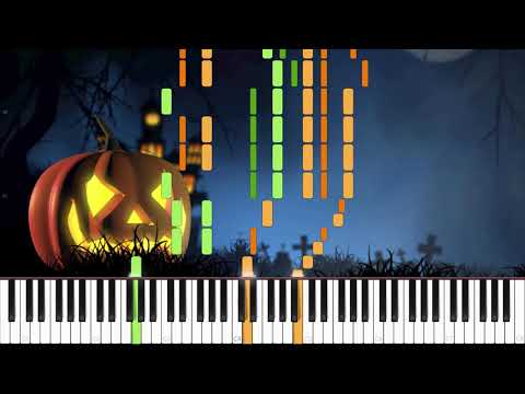 Wistful Waltz - Halloween Composition [Piano Duet] (Synthesia) // Dot Piano