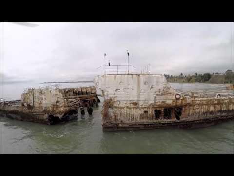 SS Palo Alto aka The Cement Ship at the Seacliff State Beach in Aptos, CA