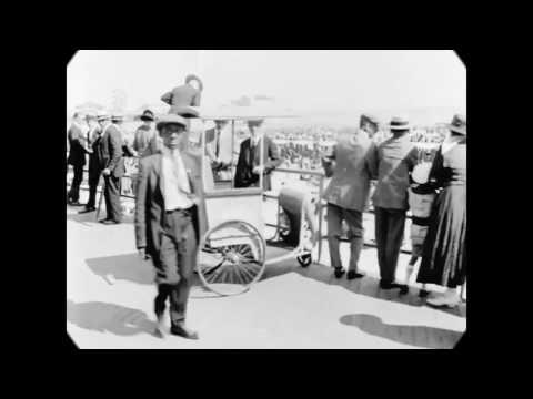 1919 - Atlantic City Boardwalk, NJ (speed corrected w/ added sound)