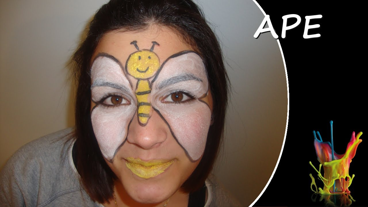Ben noto Tutorial truccabimbi - Ape - Truccaviso - Face Painting - YouTube GP14