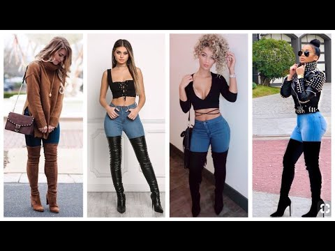 01cf6b35b0b 30 OUTFITS DE JEANS CON BOTAS LARGAS 2019 - YouTube