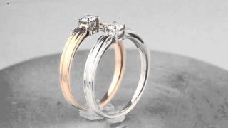 Золотые помолвочные кольца с бриллиантом 0,16 карата(Помолвочные кольца из красного и из белого золота с бриллиантом. Бриллиант 0,16 карата, цвет 2, чистота 4. Класс..., 2012-09-17T07:30:27.000Z)