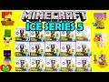 Minecraft ICE Series 5 Mini Figures in Blind Boxes Full Set Toy Genie