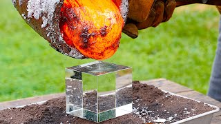 Molten Aluminum vs. 𝘛 𝘏 𝘌   𝘊 𝘜 𝘉 𝘌