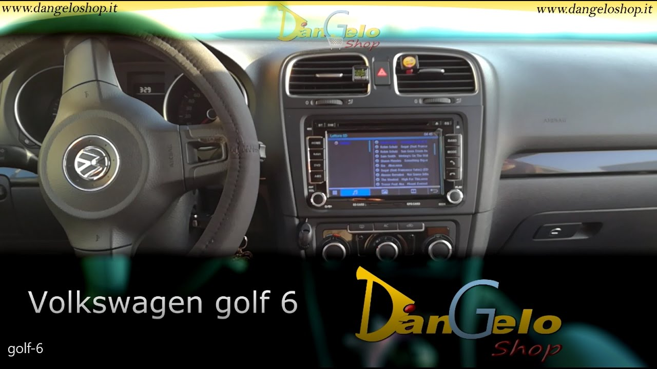 autoradio 2 din golf 6 youtube