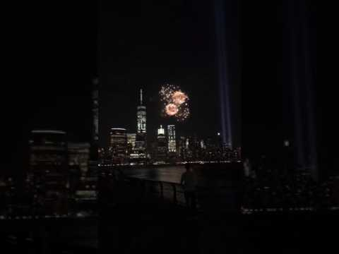 World Trade Center memorial fireworks.