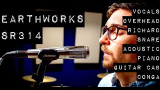 Extensive Recording Tests - Earthworks SR314 - Vocal, Acoustic, Overhead, Richard, Piano, Guitar Cab