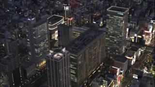 10 hours night flight over tokyo video audio 1080hd slowtv