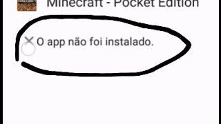 como resolver o aplicativo que não instalar