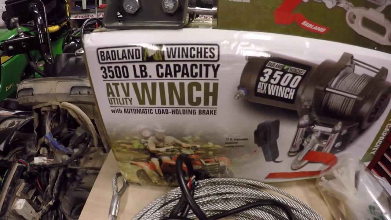 hight resolution of yamaha grizzly kodiak badlands winch install youtube yamaha kodiak 450 winch wiring diagram