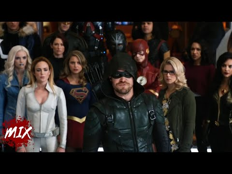 """Download Oliver Leads The Heroes """" Crisis on Earth - X """" Clip [ HD ]"""