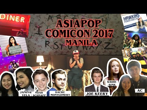 ASIAPOP COMICON MANILA 2017 ( meeting the cast of Stranger things, Janina Vela and AC)   Vlog#16