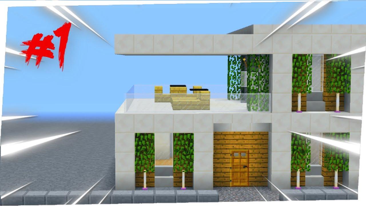 Construction Maison Moderne Minecraft Tuto 1 Youtube