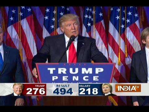 Donald Trump Winning Speech After Being Elected As US President