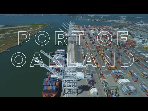 Drone Oakland: Port of Oakland (DJI Phantom 4 Pro)