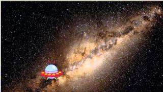 Alien travelling across the cosmos - Flash animation project