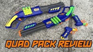 Dart Zone Shotgun/Pistol Quad Pack REVIEW   Walcom S7 Video