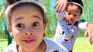 Running From Pretend Zombies at the Park | FamousTubeKIDS