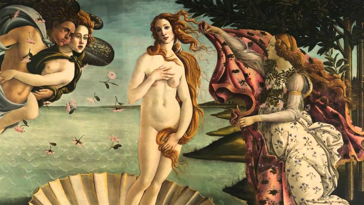 Botticelli, The Birth of Venus, 1483-85