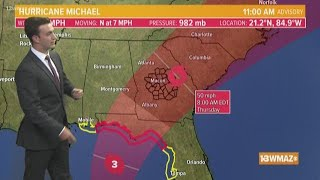 Tracking Hurricane Michael | Midday update (10/8)