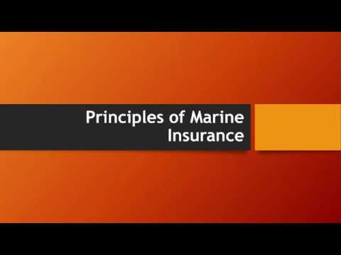 Principles of Marine Insurance - Insurable Interest, Indemnity, Subrogation and others