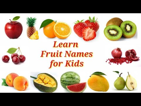 Learn Fruit Names For Kids | Learn Fruit Names In English | Kids Learning