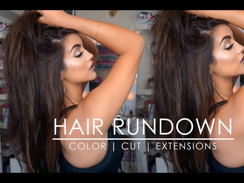 Hair Update | New Color + Cut + Sew In & Tape In Extensions