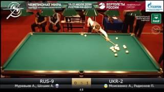 6 RUS-9  Муравьев А., Шошин А. - UKR-2  Моисеенко А., Радионов П. КЧМ 2016