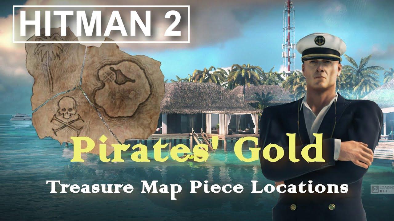 Hitman 2 Pirates Gold Treasure Map Pieces Haven Youtube