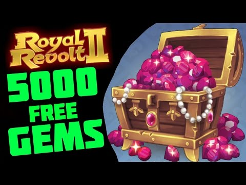 ROYAL REVOLT 2 - 5000 FREE GEMS PER MONTH! MY SECRET!