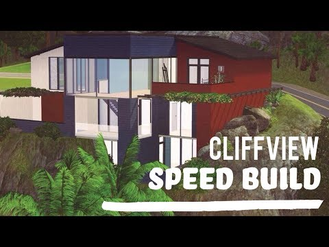 The Sims 3 Speed Build—Cliffview in Aluna Island.
