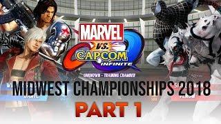[ Marvel vs. Capcom: Infinite ] Midwest Championships 2018 - PART 1 (1080p/60fps)