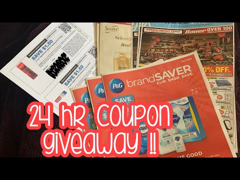 24 hr Coupon Giveaway includes IP and PG w/ Tide