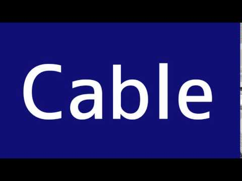 How to say Cable in Spanish