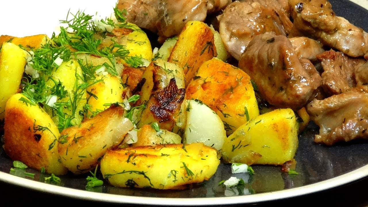 Идеальная жареная картошка Как правильно жарить картошку Секрет хрустящей корочки и печеной внутри