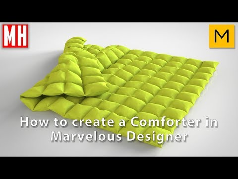 How to create a Comforter in Marvelous Designer 7
