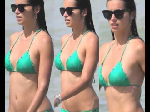 Adriana Lima reveals her in a string bikini on Miami Beach