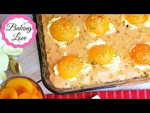 Köstlicher Spiegeleikuchen mit Vanillepudding und Aprikosen I Sehr saftig