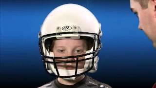 Rawlings NRG MOMENTUM Youth Football Helmet Fit Test