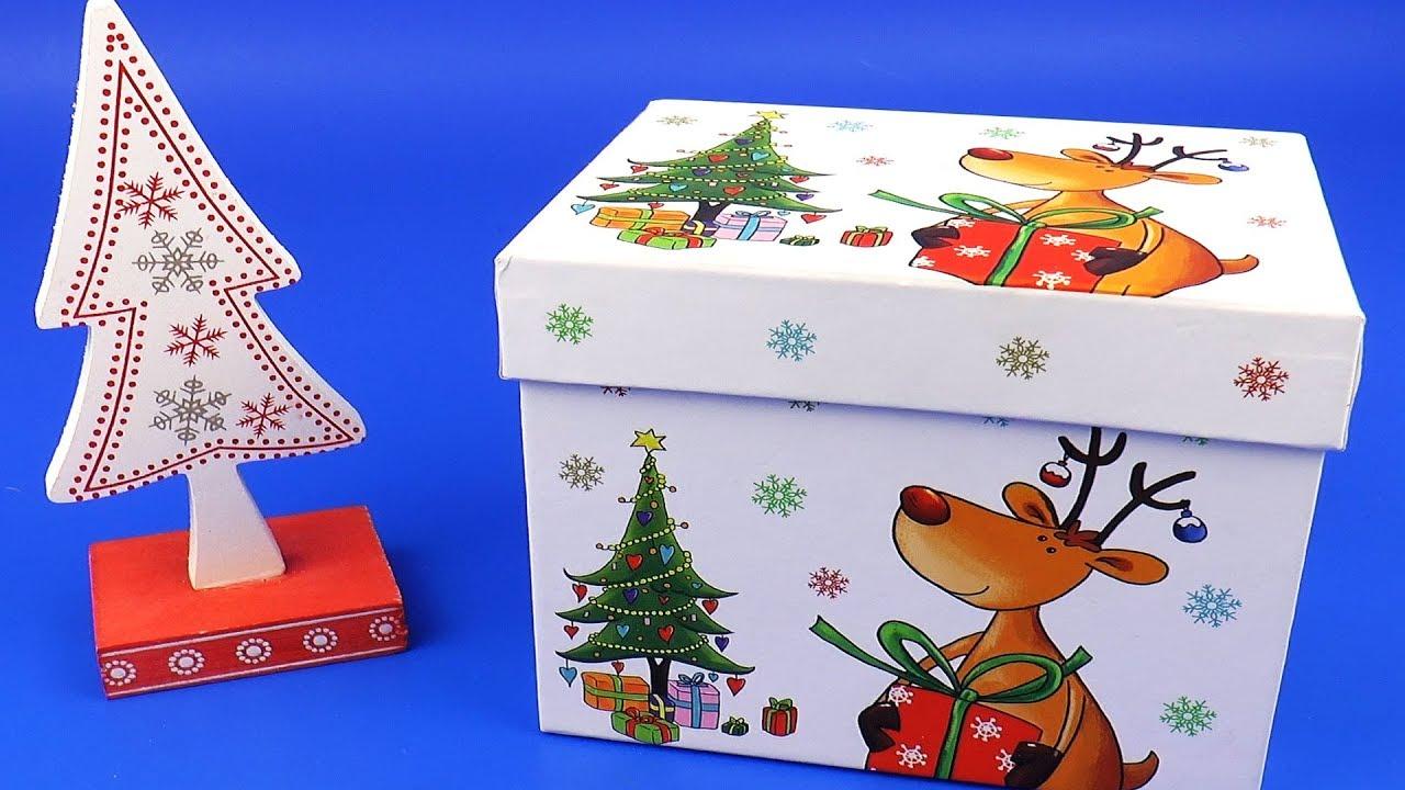 Коробка с игрушками на новый год Елка с Сюрпризом - YouTube