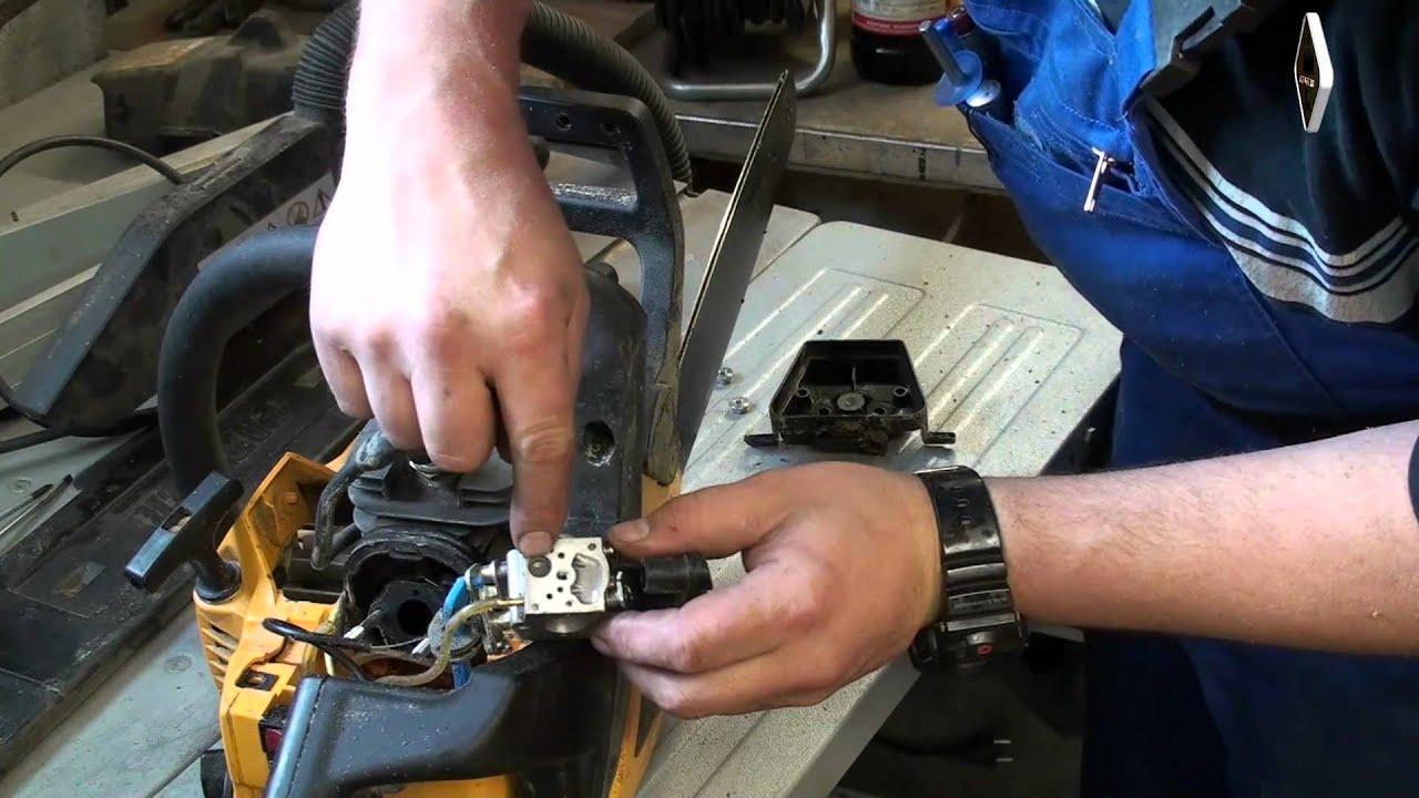 Sehr Kettensäge geht aus wenn warm - was nun? Reparatur - Anleitung YC23