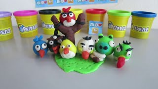 Clay Tutorial: How to Make Angry Birds and Bad Piggies (ᵔᴥᵔ)