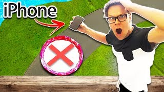 Dropping iPhone X from rooftop into a Pool of Oobleck from 60 ft!